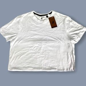 Kangol Embroidered Cropped T-Shirt